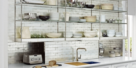 Open shelving in the kitchen why does it work