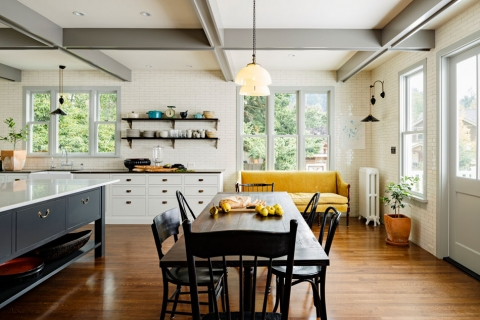What furniture pieces should go in the kitchen